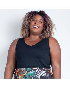 Regata Feminina Plus Size Lisa