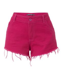 Short Feminino de Sarja Color