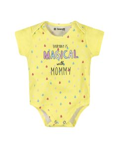 BODY  MANGA CURTA ESTAMPA GOTAS MAGICAL MOMMY