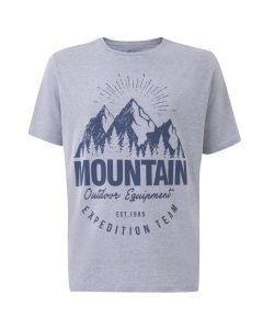 Camiseta Masculina Plus Size Mountain