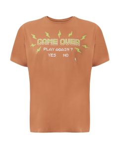 Camiseta Masculina Plus Size Game Over