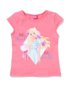 Blusa Infantil Barbie Flores Be Kind - 04 a 10 Anos