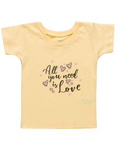 Blusa Infantil All You Need Is Love - 01 a 03 Anos