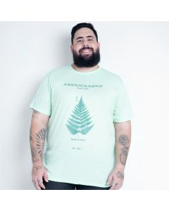 Camiseta Masculina Plus Size Exotic Leaf