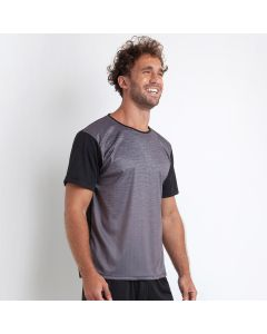 Camiseta Esportiva Masculina Estampa Degradê Raw