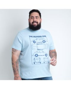 Camiseta Masculina Plus Size Fusca The Number One